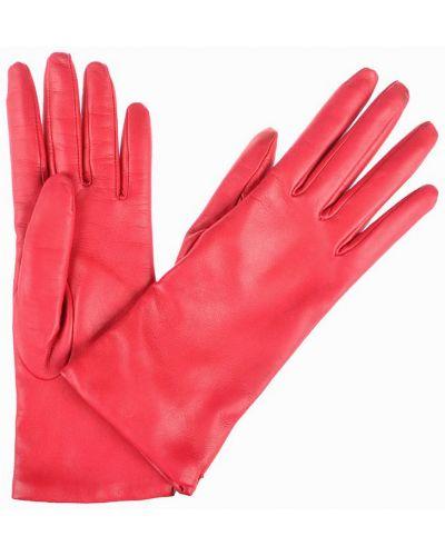 Кожаные перчатки коралловый красный Mor`a