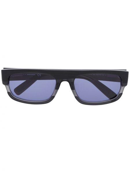 Прямые муслиновые черные солнцезащитные очки прямоугольные Dsquared2 Eyewear