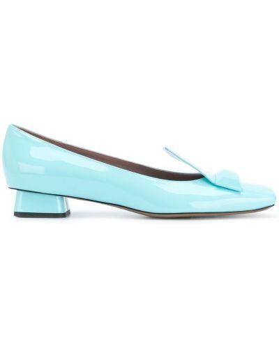 Туфли-лодочки кожаные синий Rayne