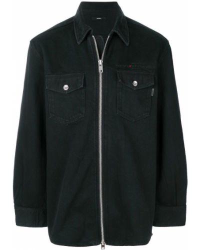Джинсовая куртка на пуговицах на молнии Diesel