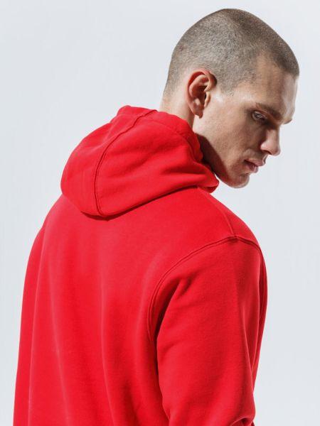 Флисовое красное худи с капюшоном Nike