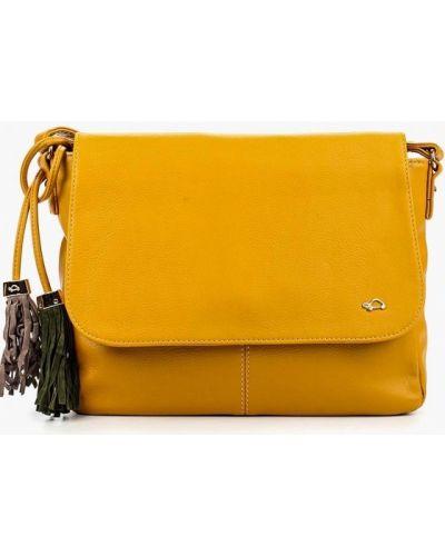 Кожаная сумка через плечо желтый Carpisa