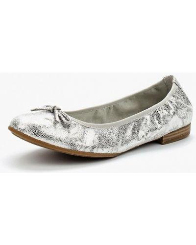 Балетки серебряного цвета Tamaris