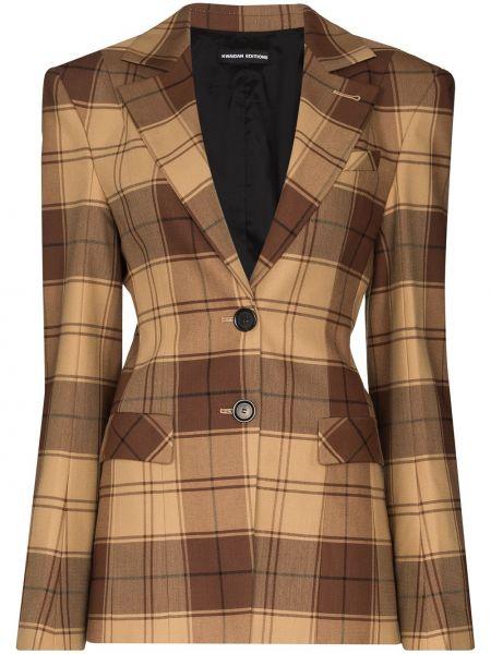 Шерстяной коричневый пиджак с карманами Kwaidan Editions