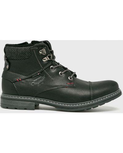 Ботинки на шнуровке - черные American Club