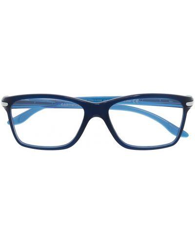 Синие очки прямоугольные прозрачные Oakley