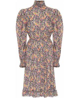 Платье миди с цветочным принтом с абстрактным принтом Philosophy Di Lorenzo Serafini