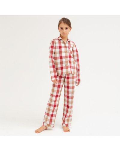 Пижамная домашняя красная рубашка Minaku