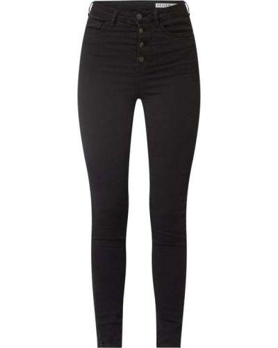Czarne jeansy z wysokim stanem bawełniane Review