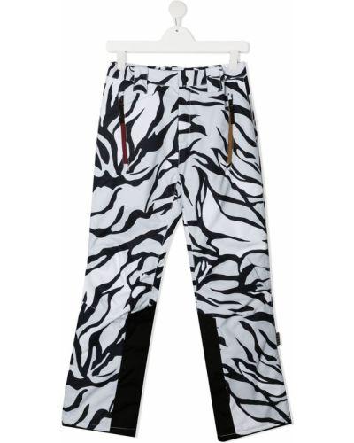 Брючные белые брюки с поясом с заплатками Molo
