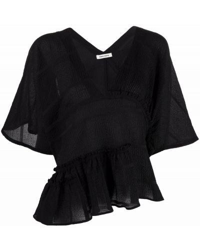 Черная блузка короткая Henrik Vibskov