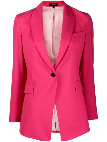 Классический пиджак прямой с накладными карманами Theory