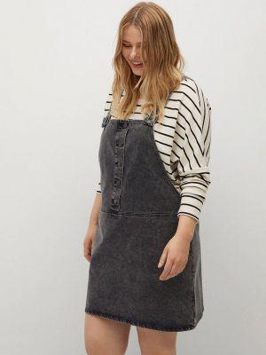Серое джинсовое платье Violeta By Mango