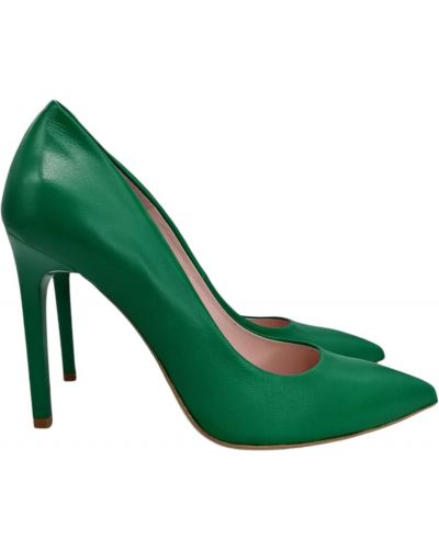 Кожаные туфли - зеленые Bravo Moda