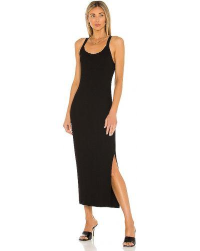 Черное кожаное платье рубашка Lna