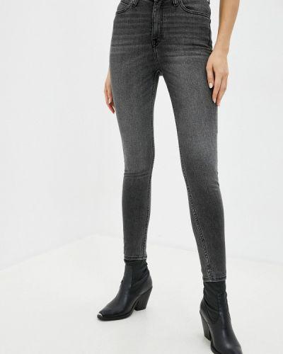 Серые джинсы-скинни узкого кроя Lee
