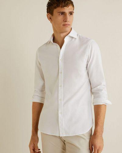Рубашка с длинным рукавом хлопковая на пуговицах Mango Man