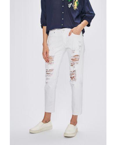 Прямые джинсы белые на пуговицах Miss Poem