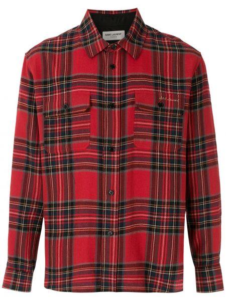 Czarny bawełna bawełna koszula Saint Laurent