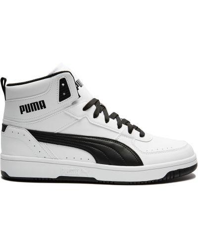 Текстильные белые кроссовки с подкладкой Puma