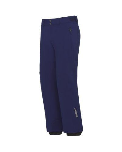 Зауженные синие утепленные горнолыжные брюки Descente
