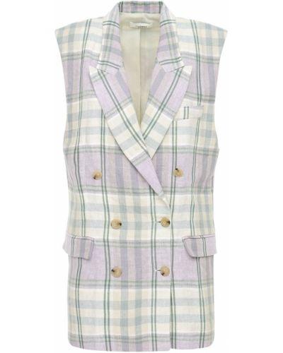 Льняной бежевый пиджак с короткими рукавами Isabel Marant étoile