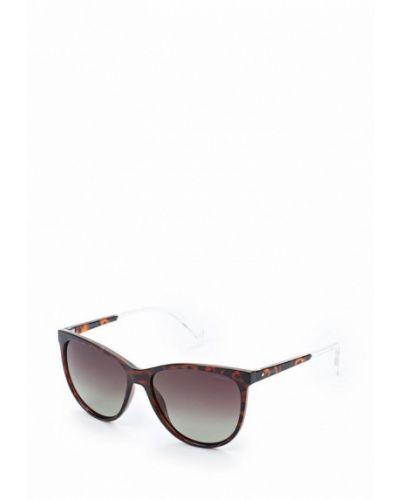 Коричневые солнцезащитные очки Polaroid