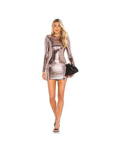 Нейлоновое платье мини с подкладкой H:ours
