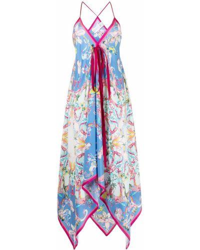 Шелковое платье - синее Etro