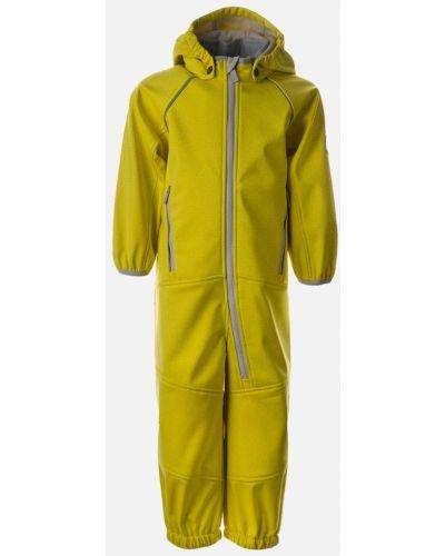 Желтый теплый флисовый комбинезон Huppa