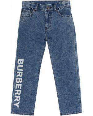 Jeansy prosto z logo Burberry Kids