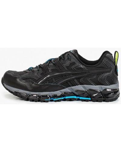Кожаные черные кроссовки Asics