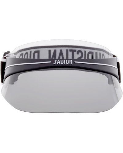 Белый козырек прозрачный с тиснением Dior