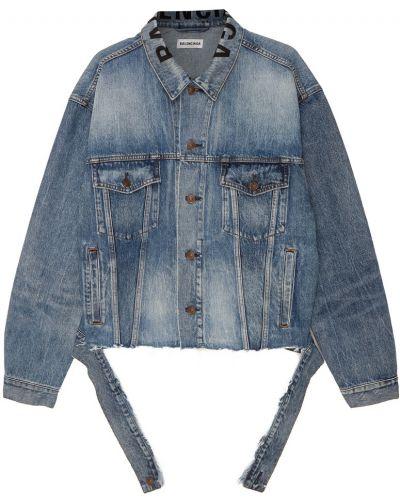 Джинсовая куртка на пуговицах свободная Balenciaga