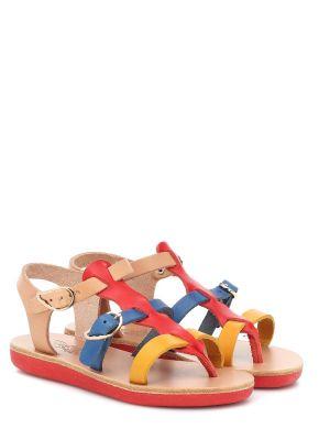 Skórzany sandały niebieski żółty Ancient Greek Sandals Kids
