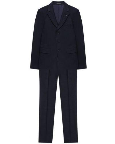 Синий костюмный костюм с подкладкой из вискозы Alessandro Borelli Milano