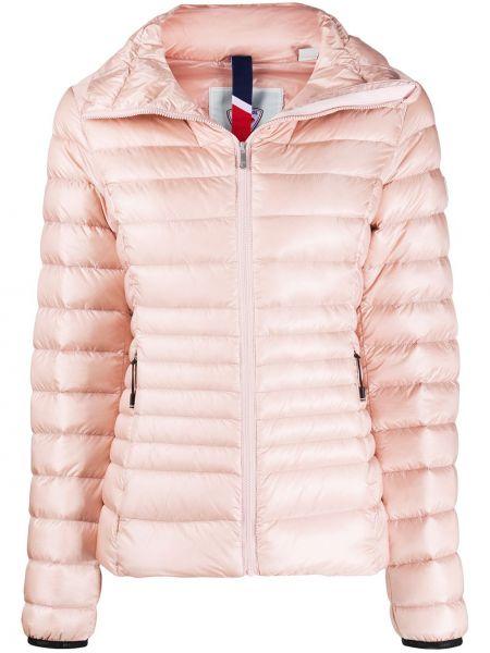 Розовая стеганая куртка с нашивками на молнии с воротником Rossignol