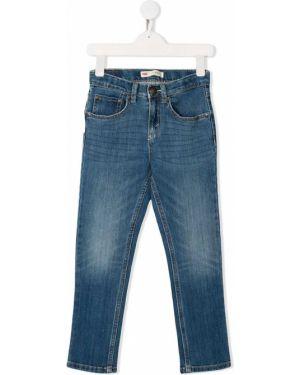Классические синие джинсы с поясом на молнии Levi`s Kids