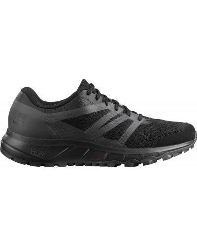 Кожаные черные кроссовки на шнуровке Salomon