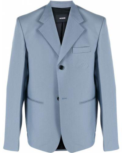 Синий пиджак с карманами на пуговицах с лацканами We11done