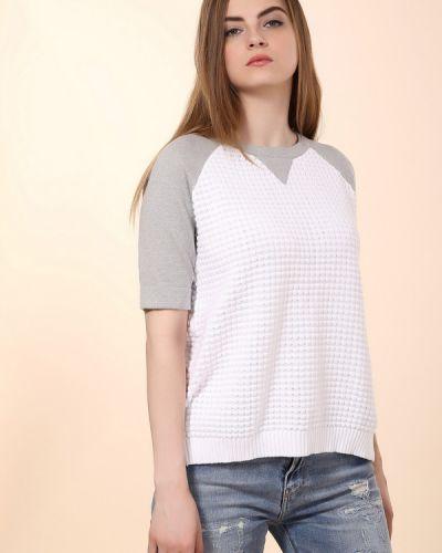 Пуловер белый серый Just Valeri