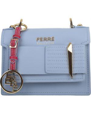 Кожаная сумка - голубая Ferre Collezioni