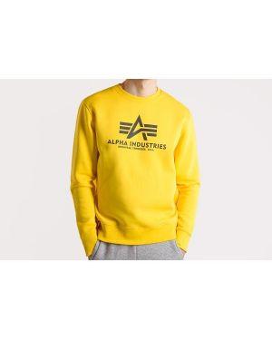 Sweter z printem - żółty Alpha Industries