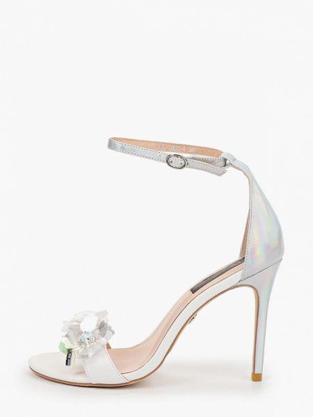 Белые вечерние кожаные туфли из натуральной кожи Marco Bonne