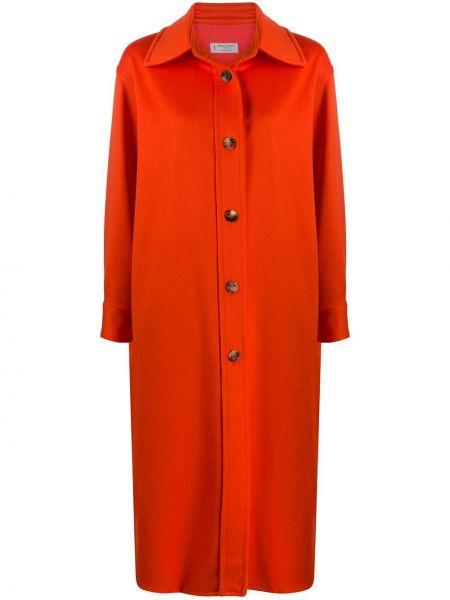 Красное шерстяное пальто классическое оверсайз Alberto Biani