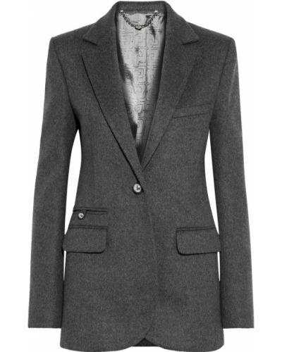 Шерстяной серый пиджак с карманами Paco Rabanne