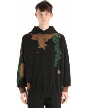 Czarna bluza z kapturem z haftem Damir Doma