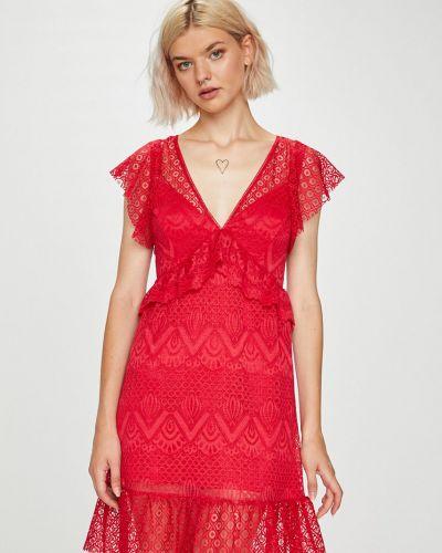 Платье мини с V-образным вырезом прямое Guess Jeans