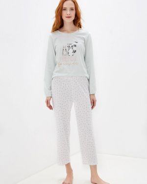 Пижама белая зеленый Nymos
