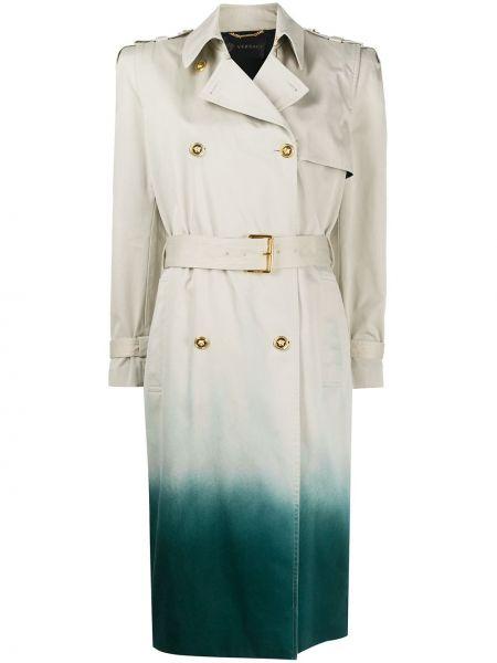 Klasyczny płaszcz z kieszeniami z kołnierzem Versace
